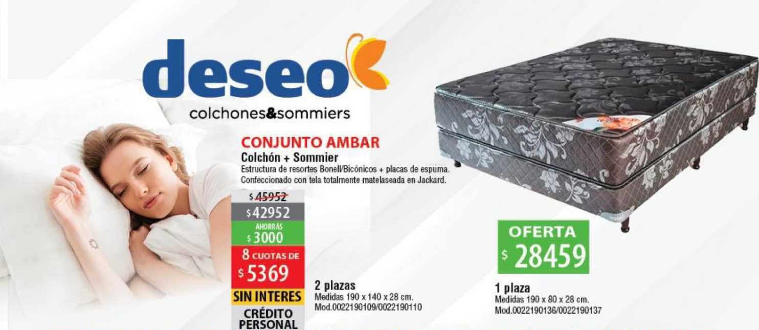 Casa Silvia Deseo Colchones & Sommiers Conjunto Ambar Colchón + Sommier