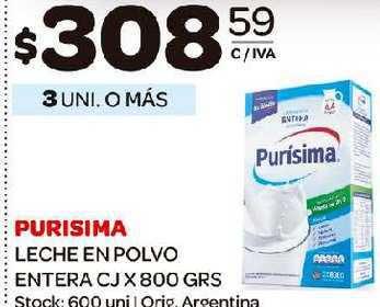 Carrefour Maxi Purisima Leche En Polvo Entera CJ X 800 GRS