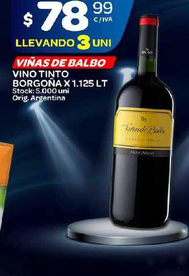 Carrefour Maxi Viñas De Balbo Vino Tinto Borgoña X 1.125 LT