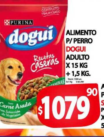 Supermercados Mariano Max Alimento P-Perro Dogui Adulto X Kg + 1,5 KG.