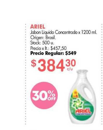 Simplicity Ariel Jabon Liquido Concentrado X 1200 Ml.