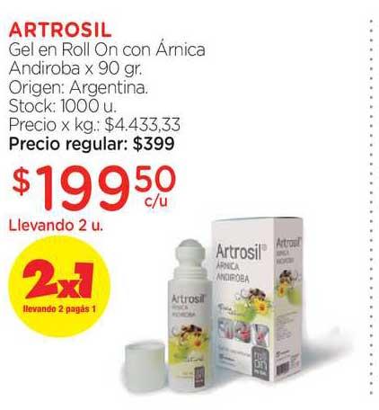 Farmacity Artrosil Gel En Roll On Con Árnica Andiroba X 90 Gr.