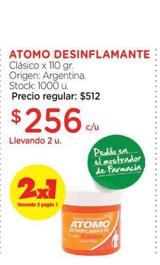 Farmacity Atomo Desinflamante Clásico X 110 Gr.