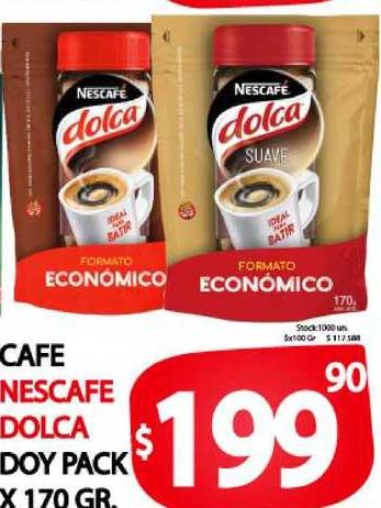 Supermercados Mariano Max Cafe Nescafe Dolca Doy Pack X 170 GR.