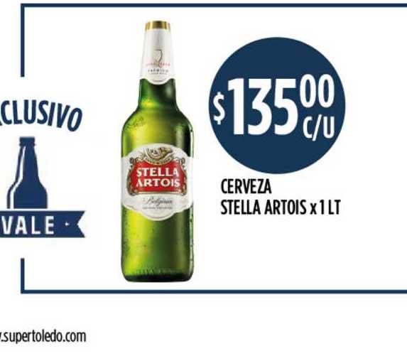 Supermercados Toledo Cerveza Stella Artois X 1 LT