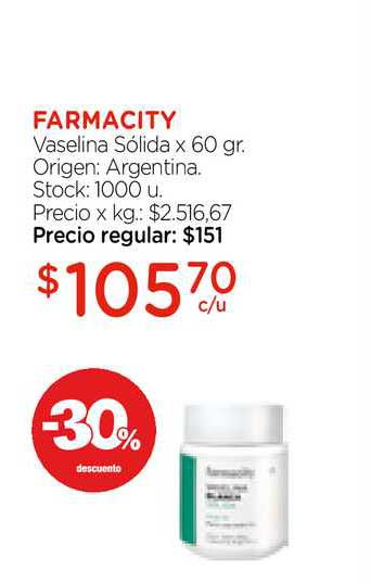 Farmacity Farmacity Vaselina Sólida X 60 Gr.