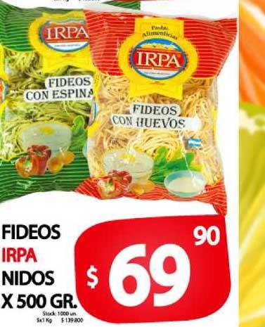 Supermercados Mariano Max Fideos Irpa Nidos X 500 GR.