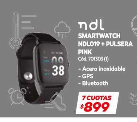 Naldo Lombardi Ndl Smartwatch Ndl019 + Pulsera Pink