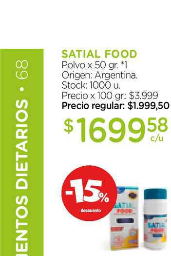 Farmacity Satial Food Polvo X 50 Gr.
