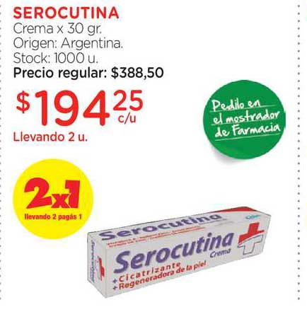 Farmacity Serocutina Crema X 30 Gr.