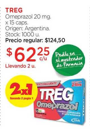 Farmacity Treg Omeprazol 20 Mg. X 15 Caps.