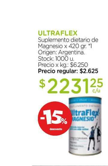 Farmacity Ultraflex Suplemento Dietario De Magnesio X 420 Gr.