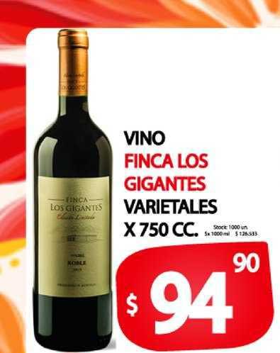 Supermercados Mariano Max Vino Finca Los Gigantes Varietales X 750 CC.