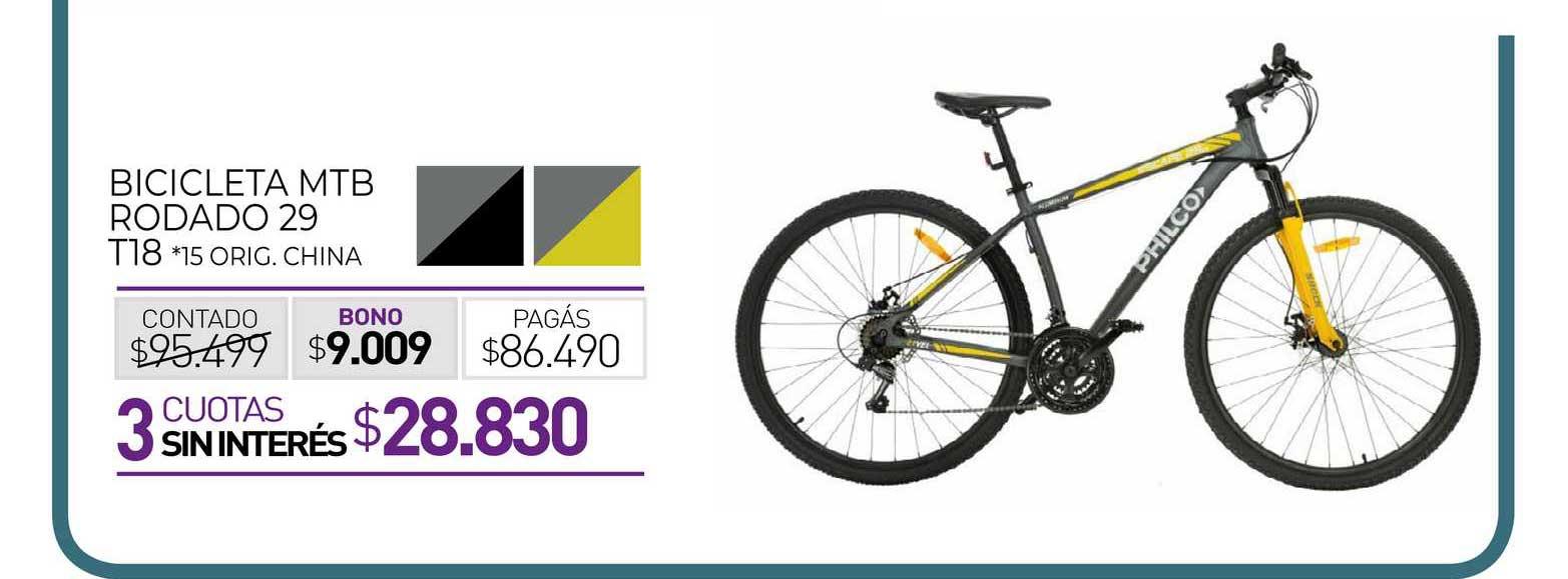 La Anónima Bicicleta MTB Rodado 29 T18