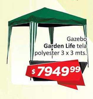 Gomez Pardo Gazebo Garden Life Tela Polyester 3 X 3 Mts