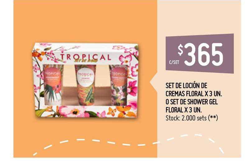Walmart Set De Loción De Cremas Floral O Set De Shower Gel Floral