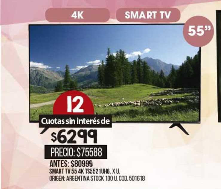 Coto Smart Tv 55 4k Ts5521uh6
