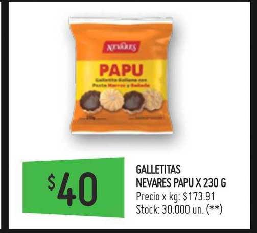 Walmart Galletitas Nevares Papu X 230 G