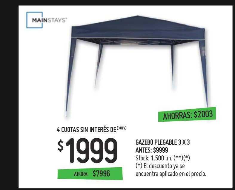 Walmart Gazebo Plegable 3 X 3