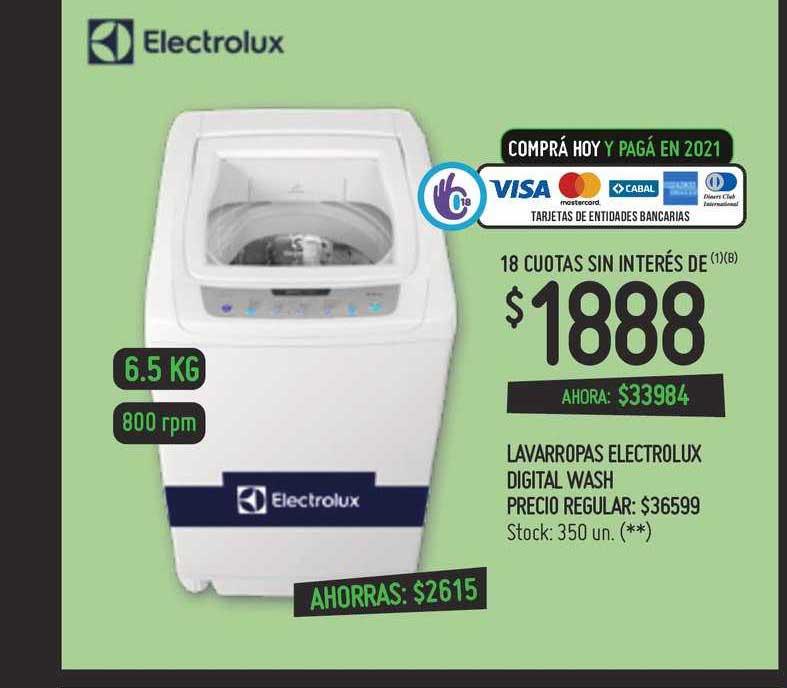 Changomas Lavarropas Electrolux Digital Wash