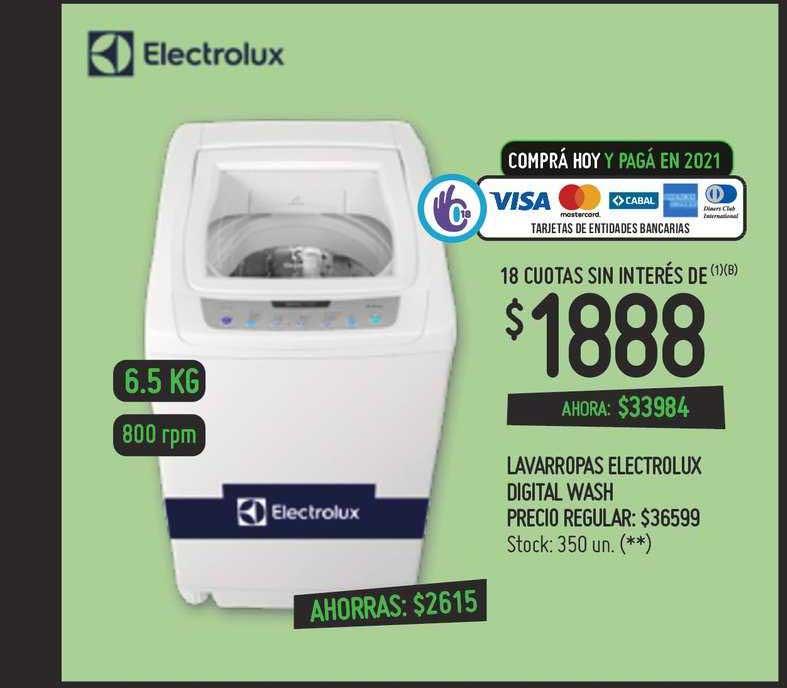 Walmart Lavarropas Electrolux Digital Wash
