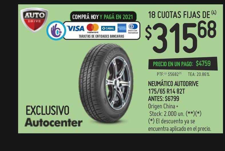 Walmart Neumático Autodrive 175-65 R14 82T