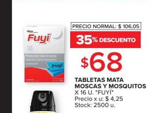 Carrefour Market Tabletas Mata Moscas Y Mosquitos X 16 U.