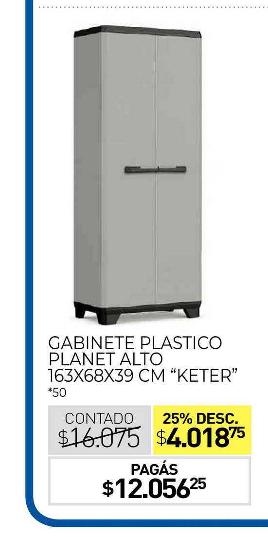 La Anónima Gabinete Plastico Planet Alto 163X68X39 CM