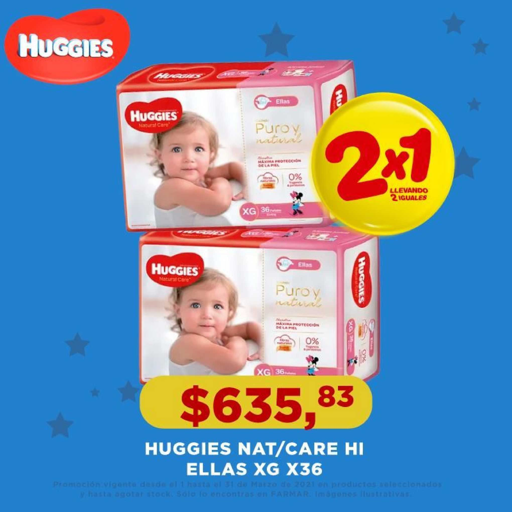 Farmar Huggies Nat-care Hi Ellas XG X36