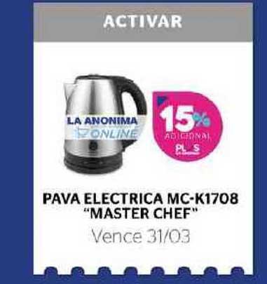 La Anónima Pava Electrica MC-K1708