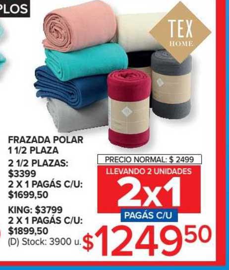 Carrefour Frazada Polar 1 1-2 Plaza