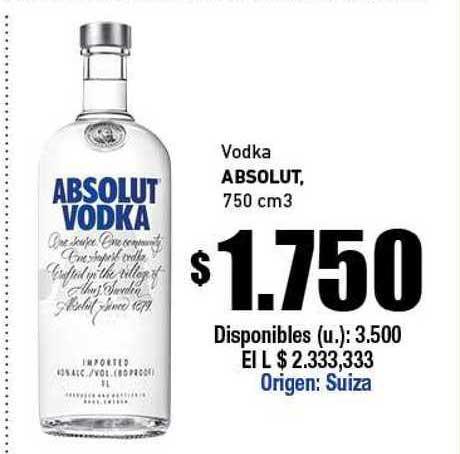 Cooperativa Obrera Vodka Absolut