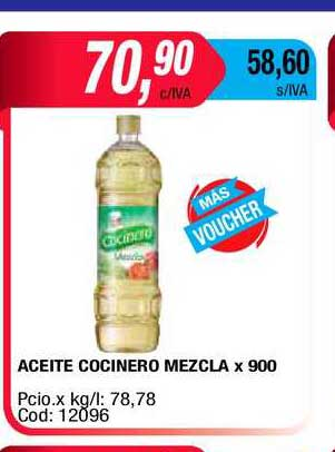 Maxiconsumo Aceite Cocinero Mezcla X 900