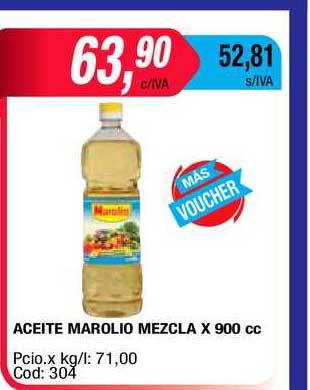 Maxiconsumo Aceite Marolio Mezcla X 900 Cc