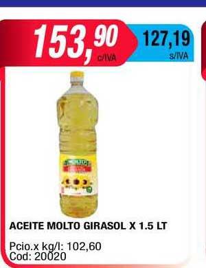 Maxiconsumo Aceite Molto Girasol X 1.5 LT