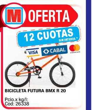 Maxiconsumo Bicicleta Futura BMX R 20
