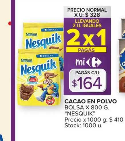 Carrefour Market Cacao En Polvo Bolsa X 800 G.