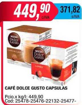 Maxiconsumo Café Dolce Gusto Capsulas