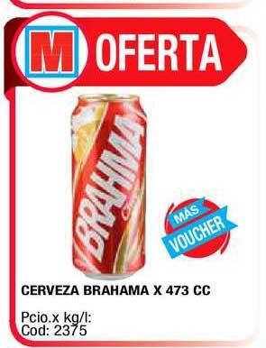 Maxiconsumo Cerveza Brahama X 473 CC