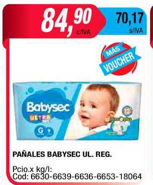Maxiconsumo Pañales Babysec UL.REG