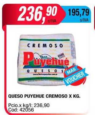 Maxiconsumo Queso Puyehue Cremoso X Kg