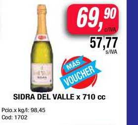 Maxiconsumo Sidra Del Valle X 710 Cc