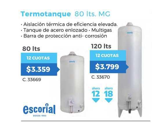 Pardo Hogar Escorial Termotanque 80 Its. Mg