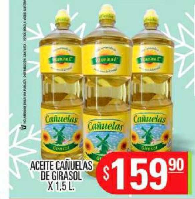 Supermercados Caracol Aceite Cañuelas De Girasol X 1.5 L.