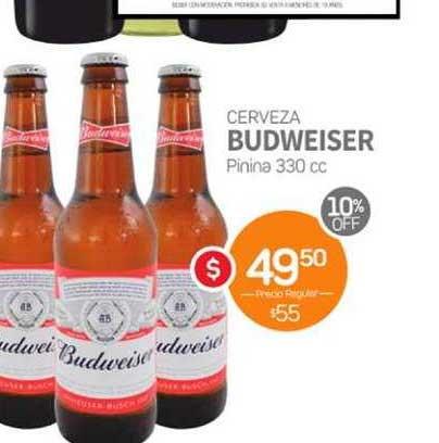 Super Alvear Cerveza Budweiser Pinina 330 Cc