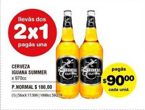 ATOMO Conviene Cerveza Iguana Summer X 970cc