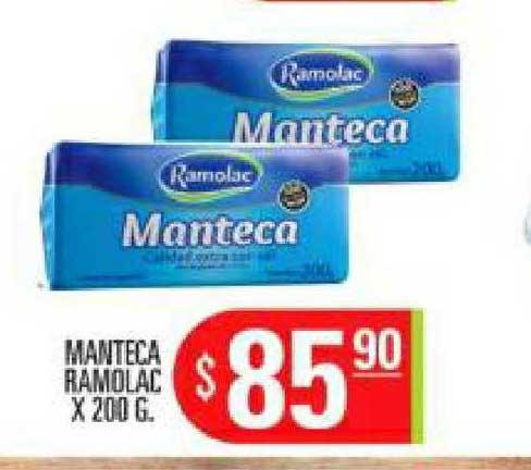 Supermercados Caracol Manteca Ramolac X 200 G.