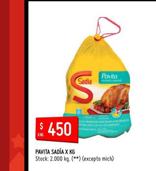 Walmart Pavita Sadía X KG