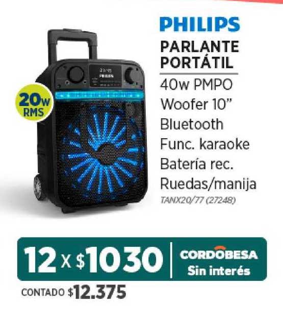 Genesio Hogar Philips Parlante Portátil