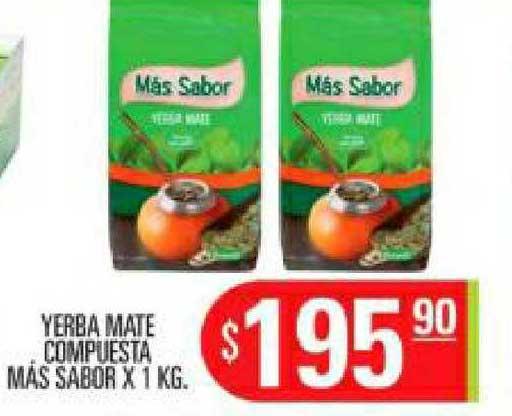 Supermercados Caracol Yerba Mate Compuesta Más Sabor X 1 KG.